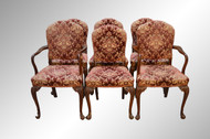 SOLD Set of 6 French Dining Chairs – Twin Arms