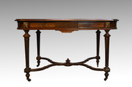 16927 Antique French Victorian Rosewood Satinwood Writing Desk