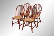 16929 Set 4 Red Windsor Brace Back Chairs