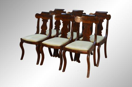 Mahogany Empire Dining Chairs Image 1