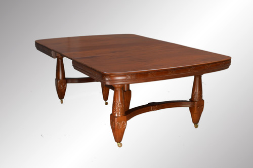 Image 1 - 16940 Victorian Large Mahogany Dining Table - Maine Antique Furniture