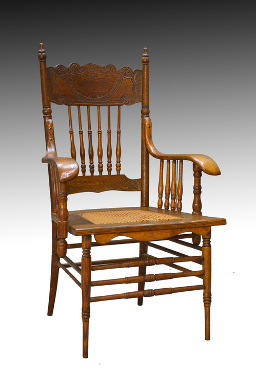 ... SOLD Victorian Press Back Office Desk Chair. Image 1