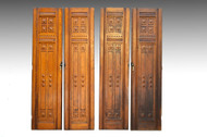 SOLD Set of 4 Oak Cupboard / Wardrobe / Closet Doors