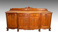 "SOLD Oak Carved Ball and Claw Sideboard Extra Long 91""!"