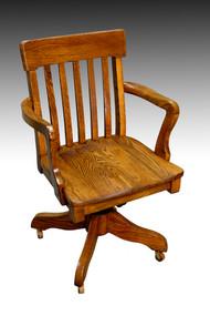 SOLD Oak Lawyers Banker Swivel Office Chair