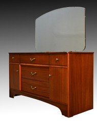 16968 Teak Vanity with Beveled Mirror