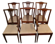SOLD Set of 6 Mahogany Chippendale Dining Room Kitchen Chairs