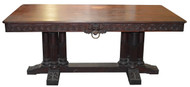 SOLD  Empire Gothic Style Library Table w/ Lion Faces