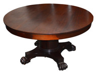 18204 Empire Mahogany Claw Foot  Dining Room Table - 5 Leaves
