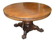 SOLD Mahogany Round Banquet Dining Table - Victorian Age