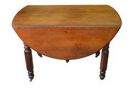 SOLD Victorian Country Walnut Drop Leaf Dining table w/2 Leaves