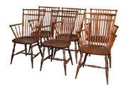 SOLD Set of 6 Windsor Type Arm Chairs by Paine-RARE!!