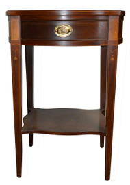 SOLD Mahogany Inlaid Hepplewhite Nightstand by Baker