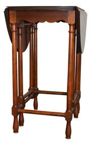 SOLD  Miniature Gate leg Drop Leaf Lamp Table by Baker