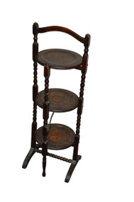 18185 Oak Muffitier 3 Shelf Stand