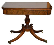 18187 Flame Mahogany Federal Style Card Table