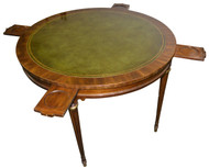 18216 Mahogany Formal Leather Top Poker Table