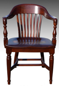 16981 Mahogany Lawyers Barrel Arm Chair