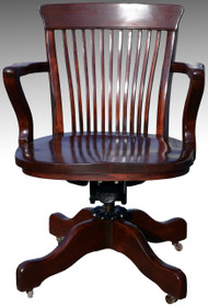 SOLD Antique Mahogany Victorian Swivel Office Chair