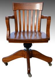 SOLD Oak Lawyers Swivel Office Chair