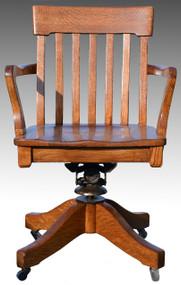 SOLD Oak Lawyers Swivel Tilting Office Chair