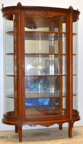 18218 Unusual Oak Dainty Curio Cabinet