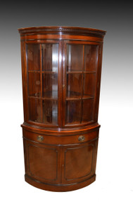 SOLD Mahogany Corner China Cabinet by Drexel