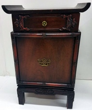 SOLD Pair of Mahogany Oriental Nightstands / Night tables