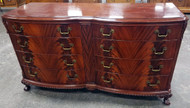 SOLD Flame Mahogany 8 Drawer Dresser Ball and Claw Foot