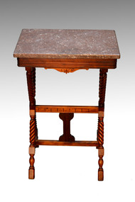 SOLD  Victorian Marble Top End Table