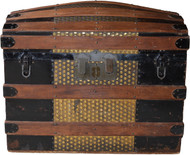SOLD Victorian Dome Top Trunk - Metal and Wood