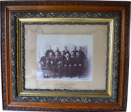 2929 Victorian Oak Carved Frame with Somerset Jury