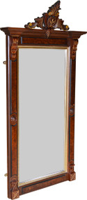 2931 Victorian Gold Incise Hall Mirror