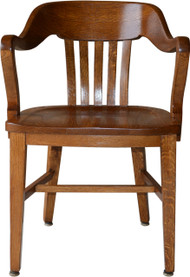 17054 Oak Barrel Back Lawyers Bankers Office Chair