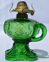 2903 Green Bulls Eye Finger Stem Lamp