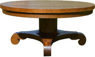 17013 Oak Custom Round Coffee Table 44 Inches