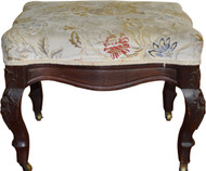 SOLD Victorian Carved Ottoman Footstool