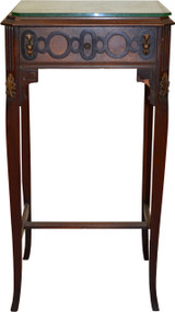 18251 Walnut Carved Nightstand 1930s