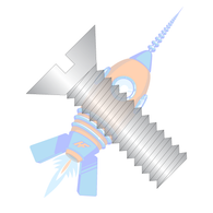 1/2-13 x 1-1/2 Slotted Flat Machine Screw Fully Threaded 18-8 Stainless Steel