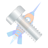 1/2-13 x 1-1/2 Unslotted Indented Hex Head Machine Screw Fully Threaded Zinc
