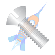 1/4-20 x 1 Slotted Oval Machine Screw Fully Threaded 18-8 Stainless Steel