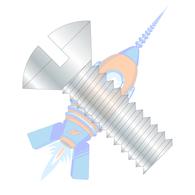 1/4-20 x 1-3/4 Slotted Oval Machine Screw Fully Threaded Zinc