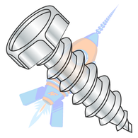 14 x 3/4-7/16AF Unslot Indent7/16 A/F Hex Head Self Tap Screw Type A Full Thread Zinc &