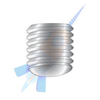 1/4-20 x 3/4 Coarse Thread Socket Set Screw Oval Point Plain Imported
