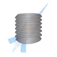 10-32 x 3/16 Fine Thread Socket Set Screw Oval Point Plain Imported