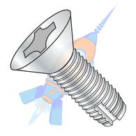 1/4-20 x 1 Phillips Flat Thread Cutting Screw Type 1 Fully Threaded Zinc