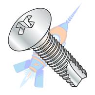 10-24 x 1-1/4 Phillips Oval Thread Cutting Screw Type 23 Fully Threaded Zinc