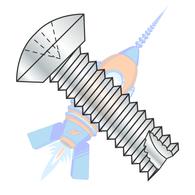 8-32 x 3/8 Phillips Oval Undercut Thread Cutting Screw Type 23 Fully Threaded Zinc