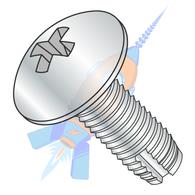 1/4-20 x 1-1/4 Phillips Truss Thread Cutting Screw Type 1 Fully Threaded Zinc