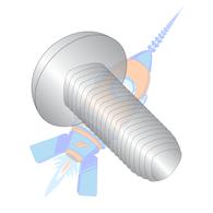 1/4-20 x 1 Phil Pan Taptite Alternative Thread Rolling Screw Fully Thread 410 S/S Pass &Wax